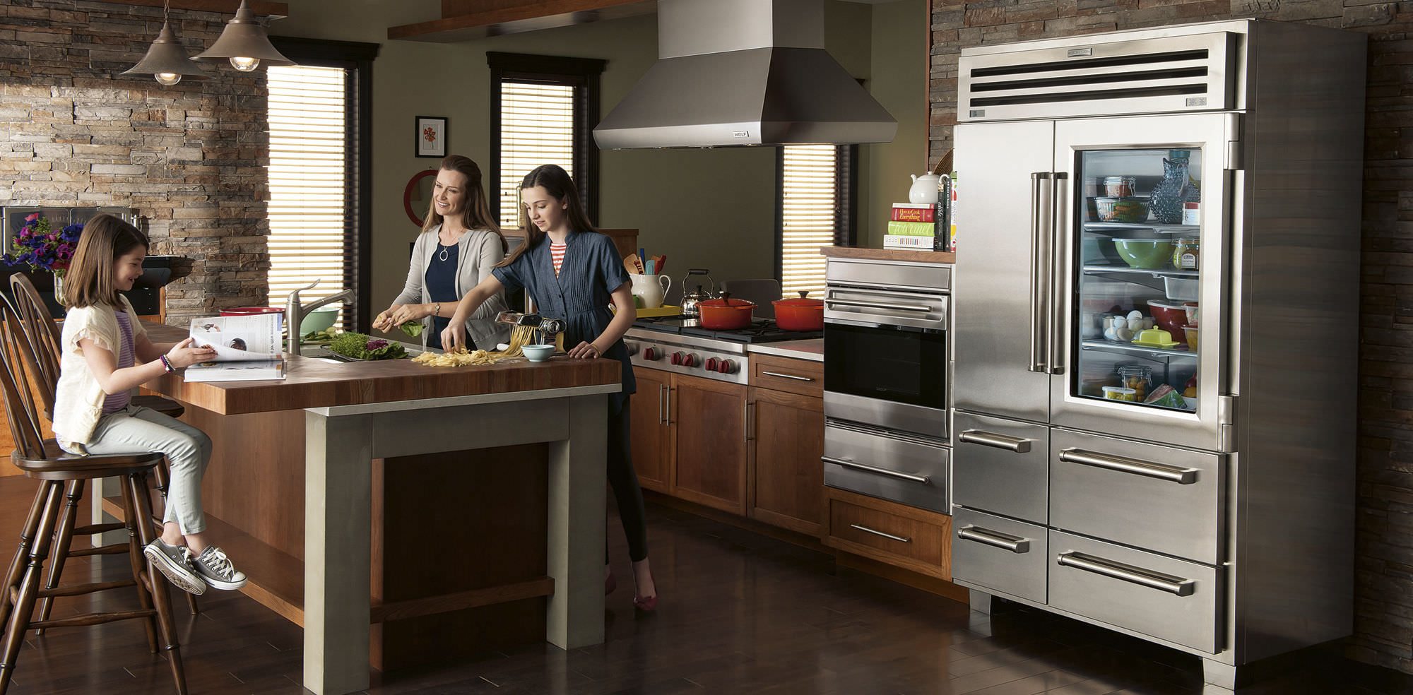 Fresh Food And Drink For Glass Door Refrigerator Side Simple Oven
